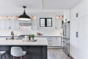 Minimalist Kitchen Design With Black and White Elements