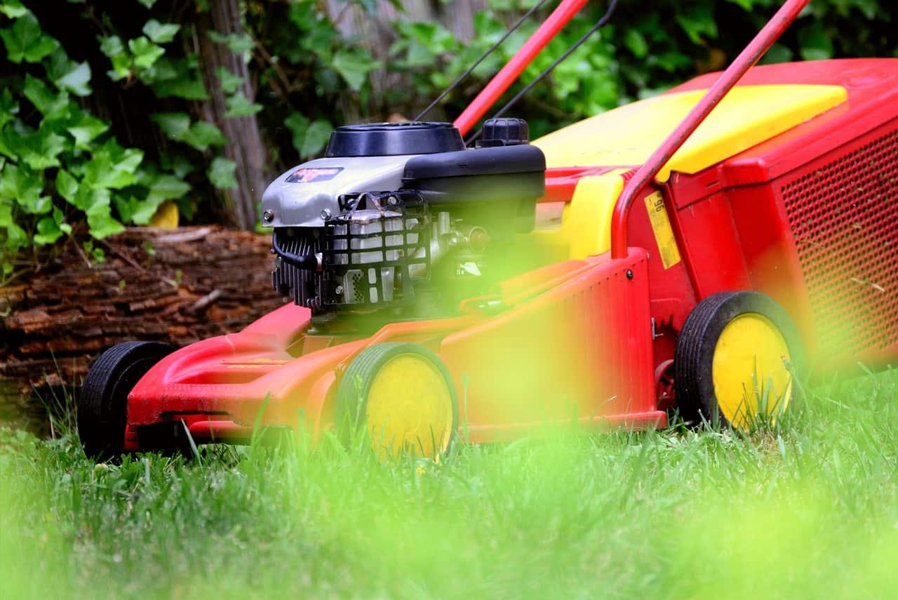 Lawn mover for garden service