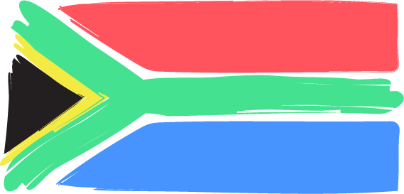 stylized south african flag